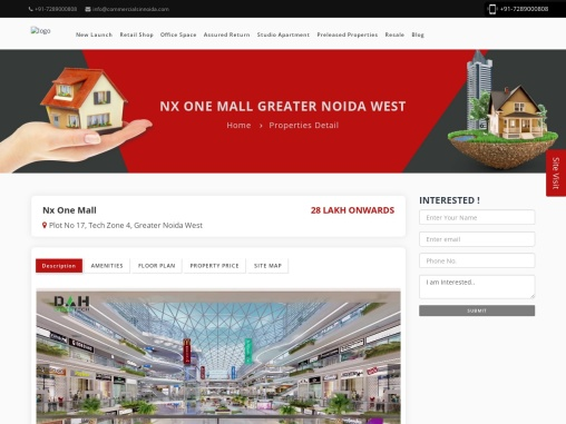 Buy office space in Greater Noida west, Nx One Mall