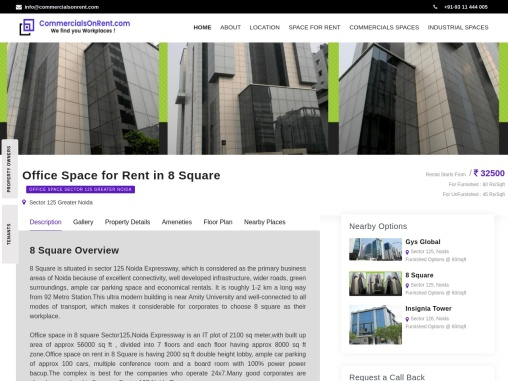 TOP Office Space For Rent In 8 Square Sector 125