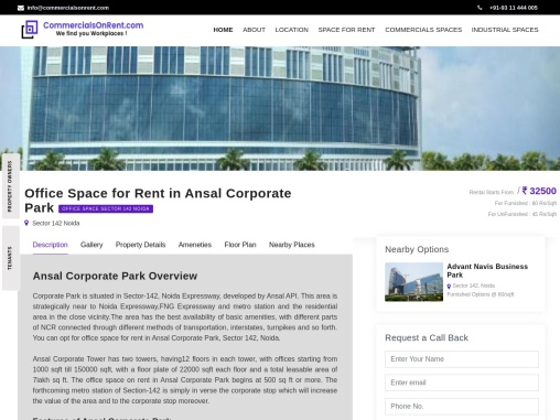 Office Space For Rent In Ansal Corporate Park