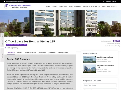 Office Space For Rent/Lease In Stellar 135   Noida