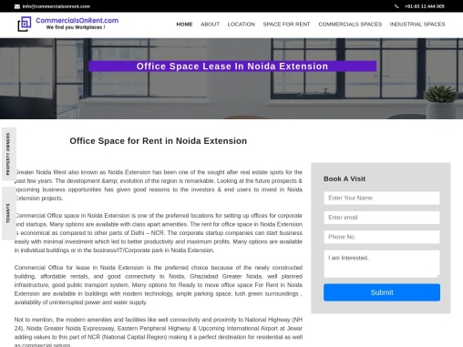 Top Office Space for Rent in Noida Extension