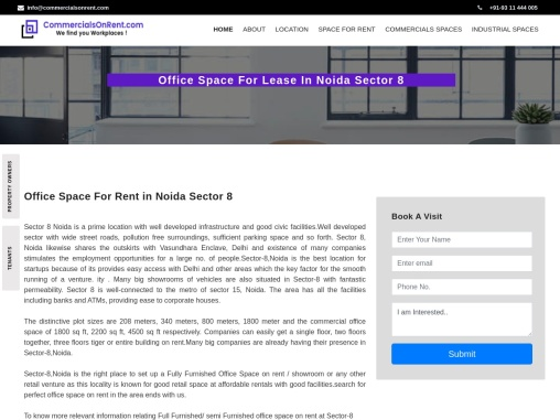 Office Space On Rent/Lease in Sector 8 Noida