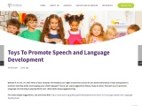 Toys To Promote Speech and Language Development