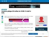 Accenture pledges $25 million for COVID-19 relief in India