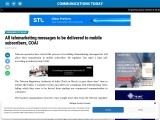 All telemarketing messages to be delivered to mobile subscribers, COAI