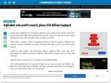Alphabet sets profit record, plans $50 billion buyback
