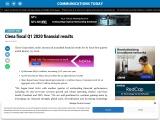 Ciena fiscal Q1 2020 financial results