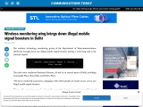 Wireless monitoring wing brings down illegal mobile signal boosters in Delhi