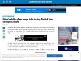 Global satellite players urge India to stop Starlink from selling broadband