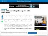 Google CEO Sundar Pichai pledges support in India's COVID-19 fight