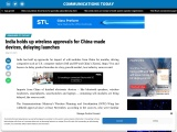 India holds up wireless approvals for China-made devices, delaying launches