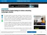 Indian business leaders batting for wireless networking technologies, Deloitte