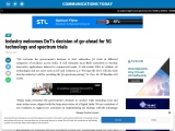Industry welcomes DoT's decision of go-ahead for 5G technology and spectrum trials