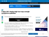 IT Rules 2021: Bombay High Court stays oversight mechanism on publishers