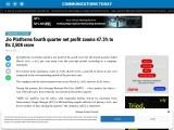 Jio Platforms fourth quarter net profit zooms 47.5% to Rs 3,508 crore