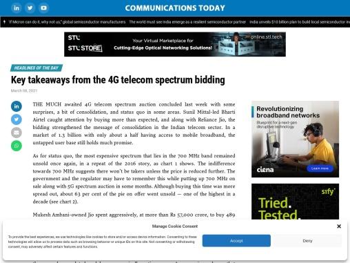 Key takeaways from the 4G telecom spectrum bidding
