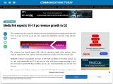 MediaTek expects 10-18 pc revenue growth in Q2