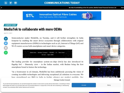 MediaTek to collaborate with more OEMs