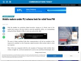 Mobile makers under PLI scheme look for relief from PM