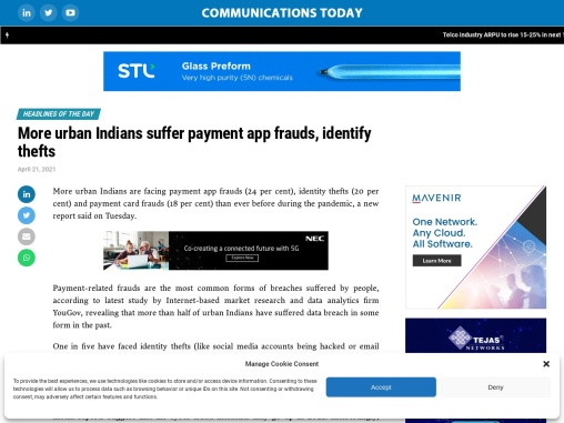 More urban Indians suffer payment app frauds, identify thefts