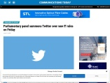 Parliamentary panel summons Twitter over new IT rules on Friday