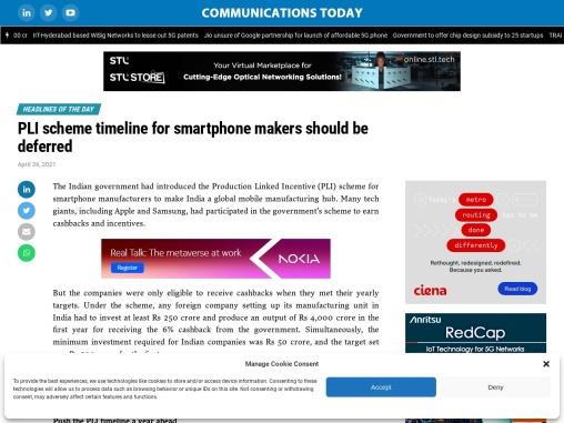 PLI scheme timeline for smartphone makers should be deferred