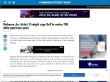 Reliance Jio, Airtel, Vi might urge DoT to revise 700 MHz spectrum price
