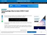 Samsung pledges $5mn for India's COVID-19 relief efforts