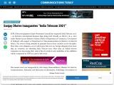 "Sanjay Dhotre inaugurates ""India Telecom 2021"""