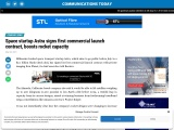 Space startup Astra signs first commercial launch contract, boosts rocket capacity