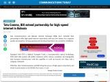 Tata Comms, BIX extend partnership for high-speed internet in Bahrain
