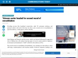 Telecom sector headed for second round of consolidation