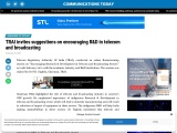 TRAI invites suggestions on encouraging R&D in telecom and broadcasting