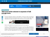 TRAI issues further extension to suspension of bulk message norms