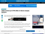 Twilio to invest up to $750 million in telecom company Syniverse