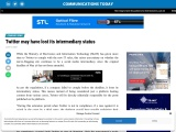 Twitter may have lost its intermediary status