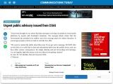 Urgent public advisory issued from COAI