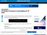 US Chamber of Commerce to seek doubling of H-1B quota