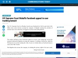 US Supreme Court Rebuffs Facebook appeal in user tracking lawsuit