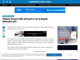 Vedanta Group in talks with govt to set up display fabrication unit