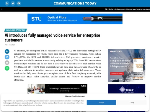 Vi introduces fully managed voice service for enterprise customers