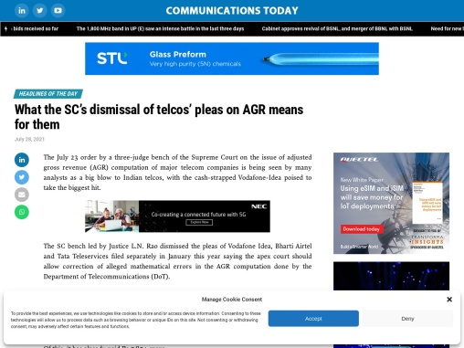 What the SC's dismissal of telcos' pleas on AGR means for them