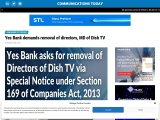 Yes Bank demands removal of directors, MD of Dish TV