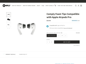 Comply™ Foam Tips Compatible with Apple AirPods Pro