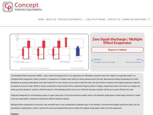 Zero Liquid Discharge – ZLD – conceptprocess