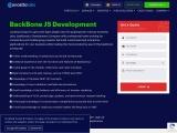 Backbone.js Development Company | Hire Backbone.js Developer