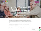 5 Key questions to ask when moving into a retirement community