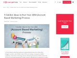 9 Golden Ideas to Run Your ABM or Account Based Marketing