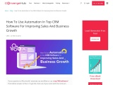 How To Use Automation In Top CRM Software For Improving Sales And Business Growth