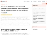 How to Fix the Cannot open the Outlook Window
